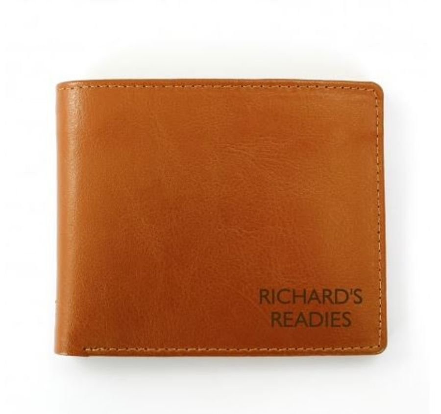 Personalised Brown Leather Wallet