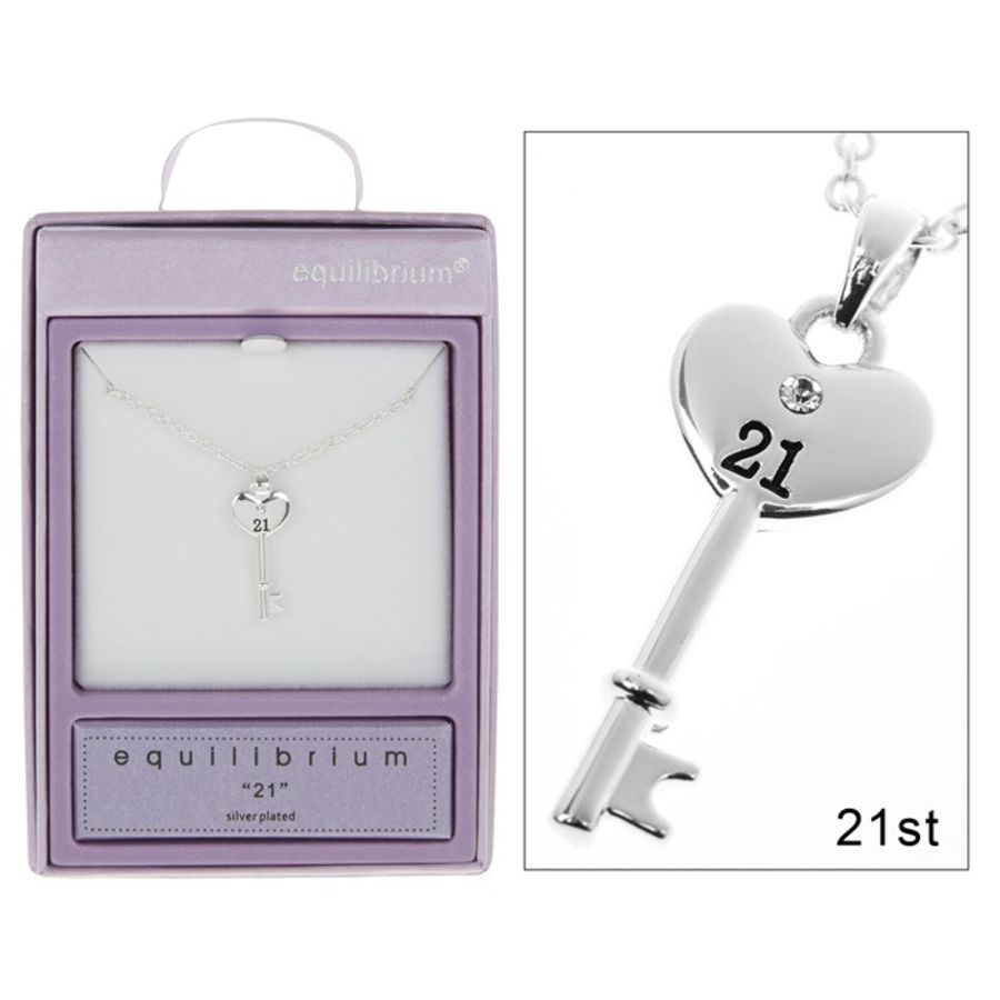 Silver Plated 21 Key Pendant