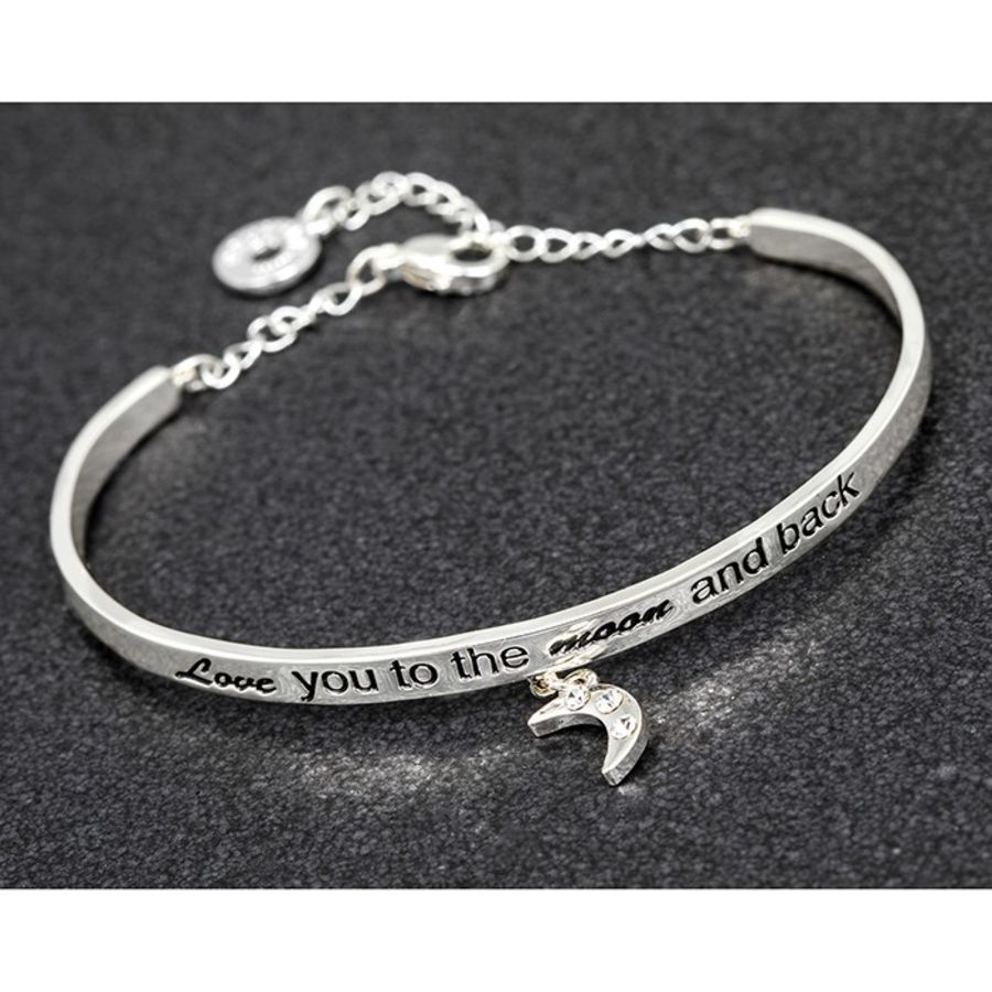 Equilibrium Charm Bangle Moon & Back