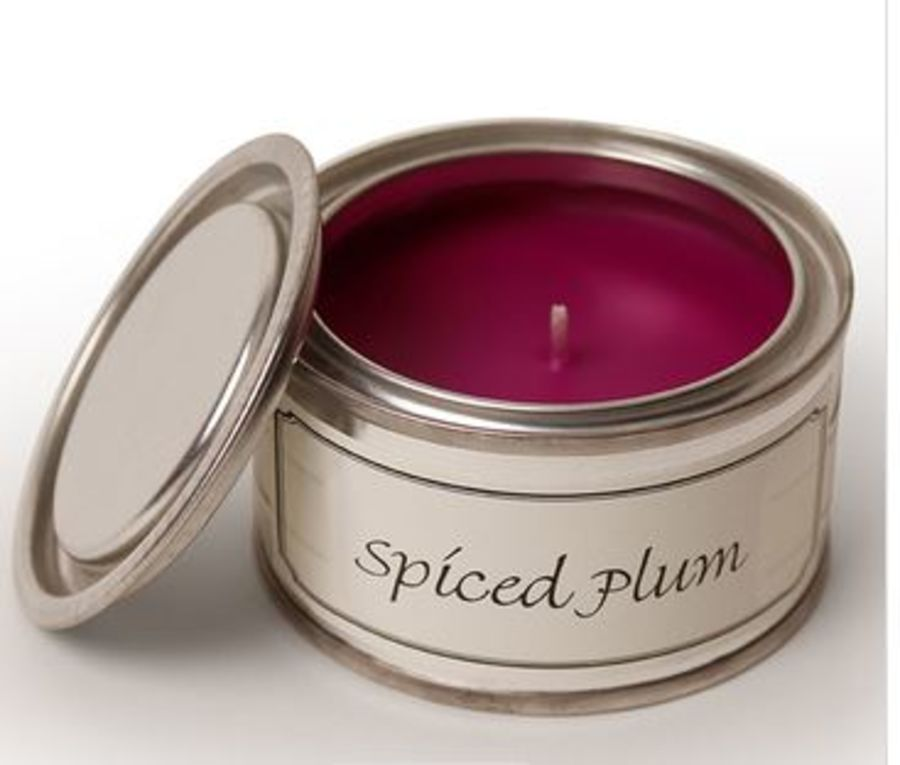 Spiced Plum Pintail Tin  Candle