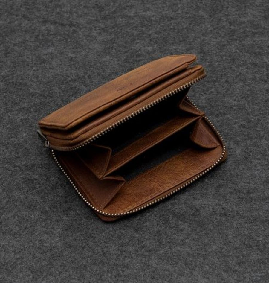 Yukon Light Brown Leather Wallet Purse