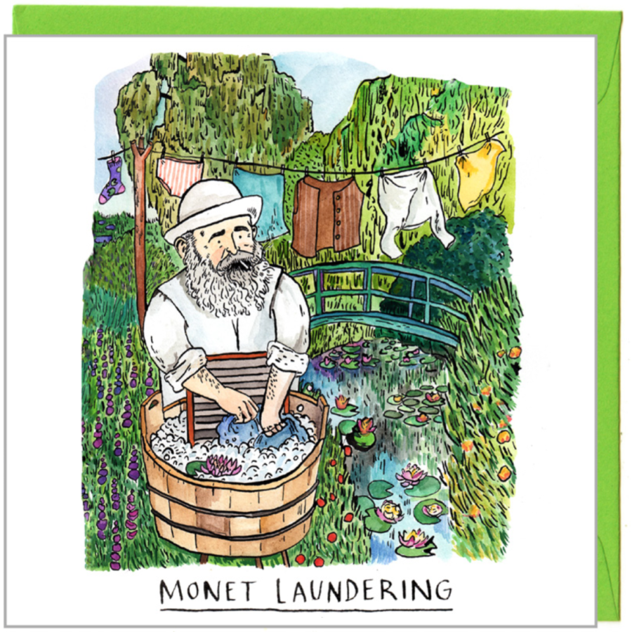 Monet Laundering by Jelly Armchair