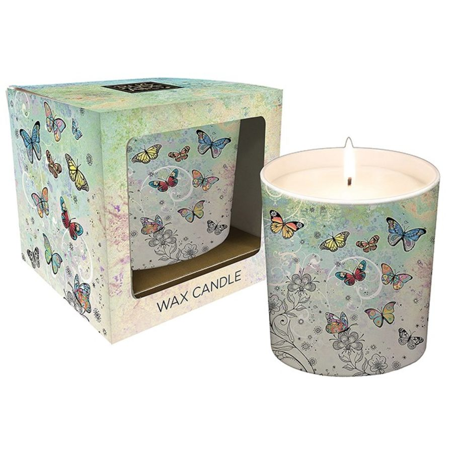 Butterfly Candle Pot by Bug Art