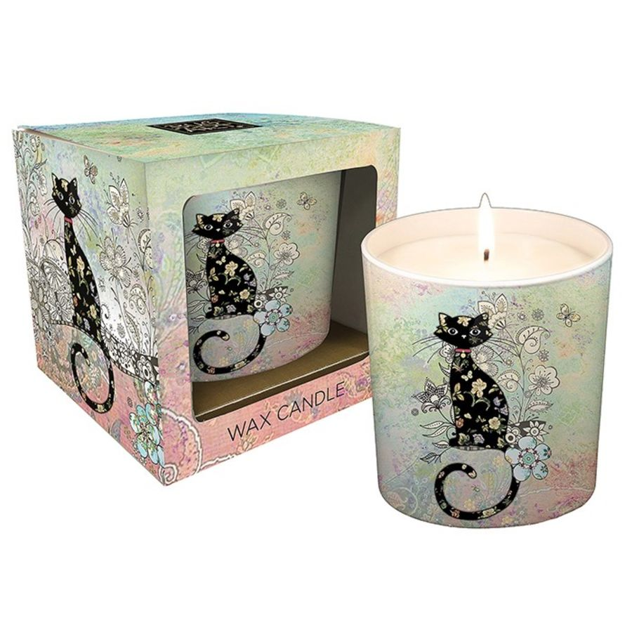 Cat Candle Pot by Bug Art