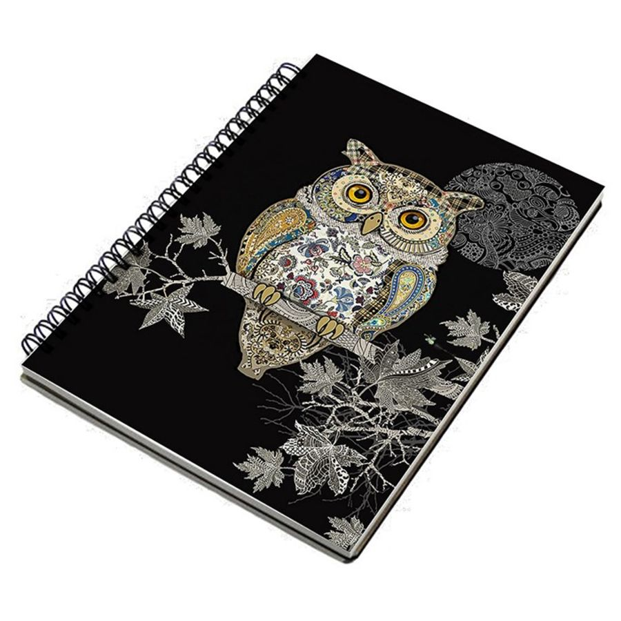 Bug Art Owl Design Notebook