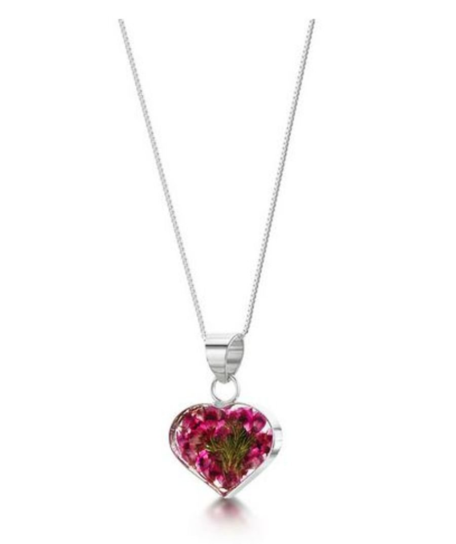Silver Heather Small Heart Pendant