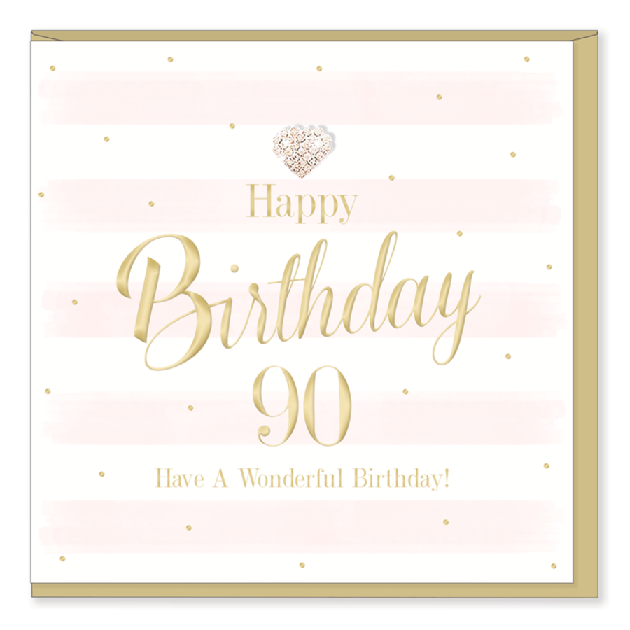 90th Birthday Card