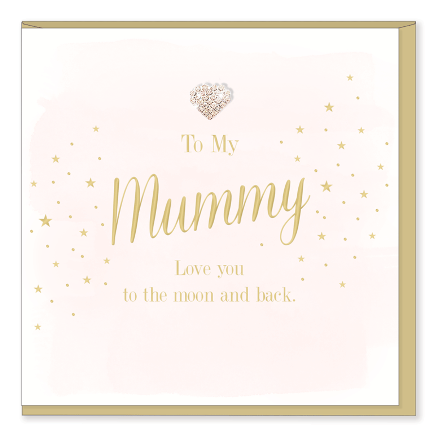To my Mummy Love you to the Moon and back Card
