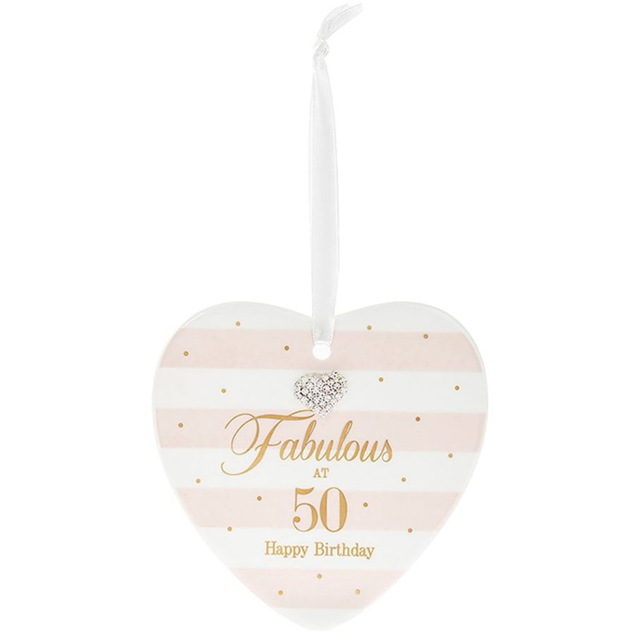50th Birthday Mad Dots Heart Plaque