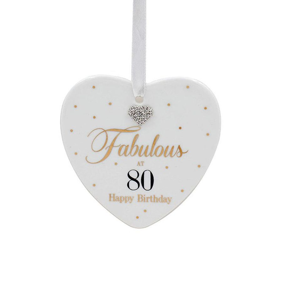 80th Birthday Mad Dots Heart Plaque