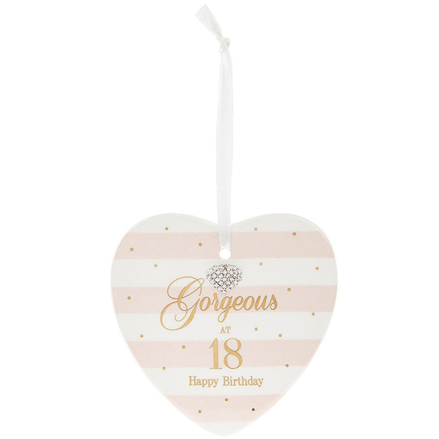 18th Birthday Mad Dots Heart Plaque