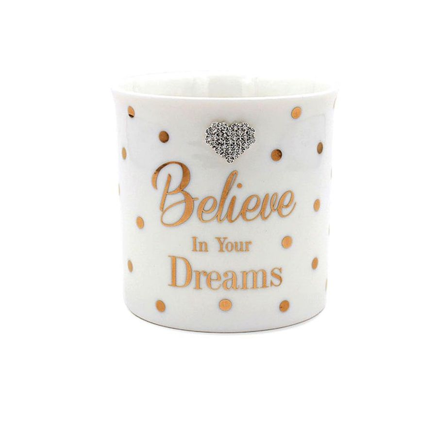 Believe In Your Dreams Mad Dots Candle Pot