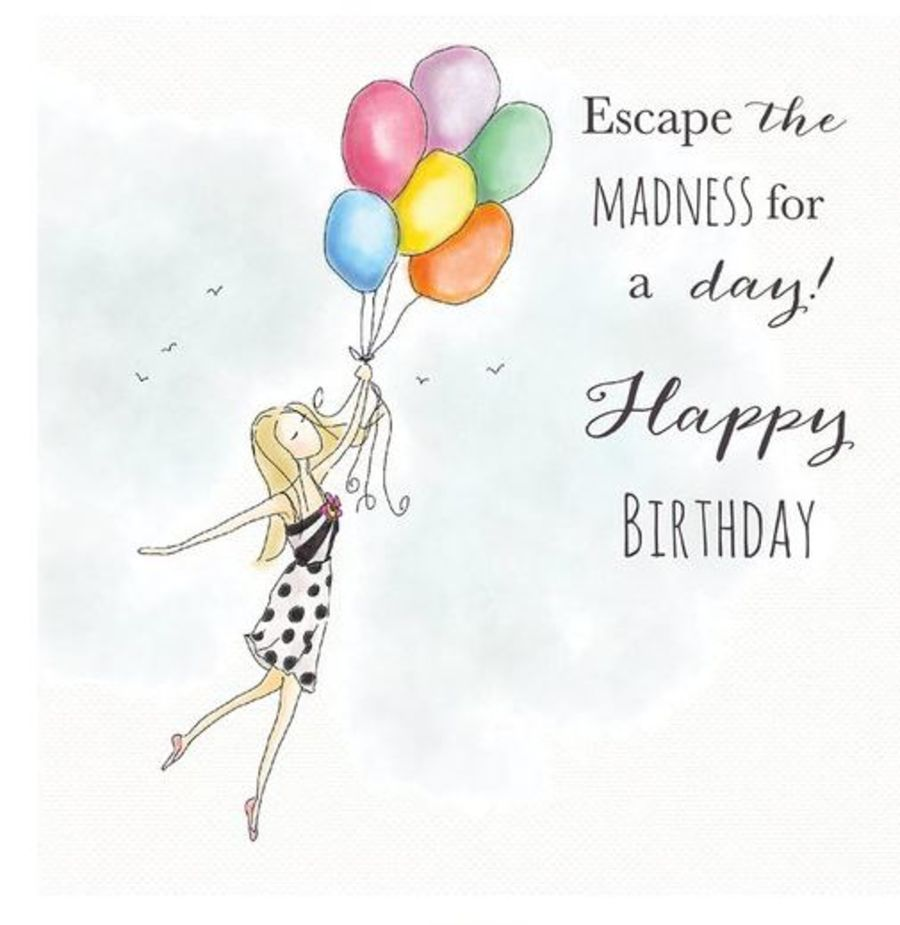 Escape the Madness Birthday Card