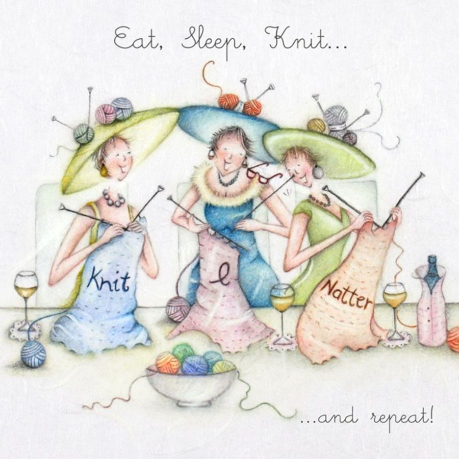 Eat, Sleep, Knit...and repeat!