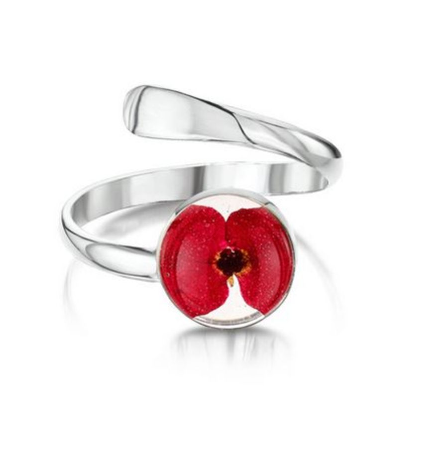 Silver Poppy Ring By Shrieking Violet