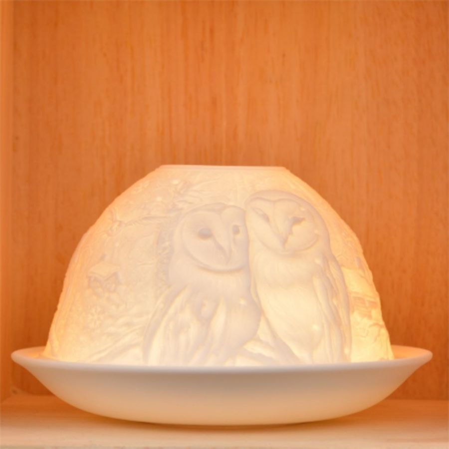 Nordic Lights Candle Shade - Owls