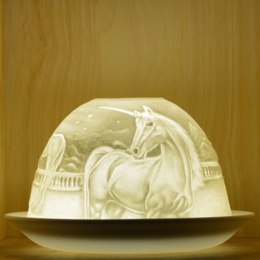 Nordic Lights Candle Shade - Unicorn