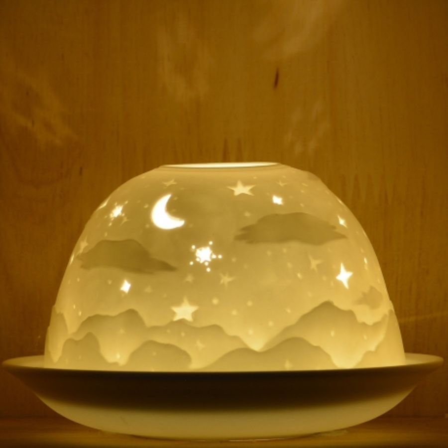 Nordic Lights Candle Shade - Stencil Night Shade