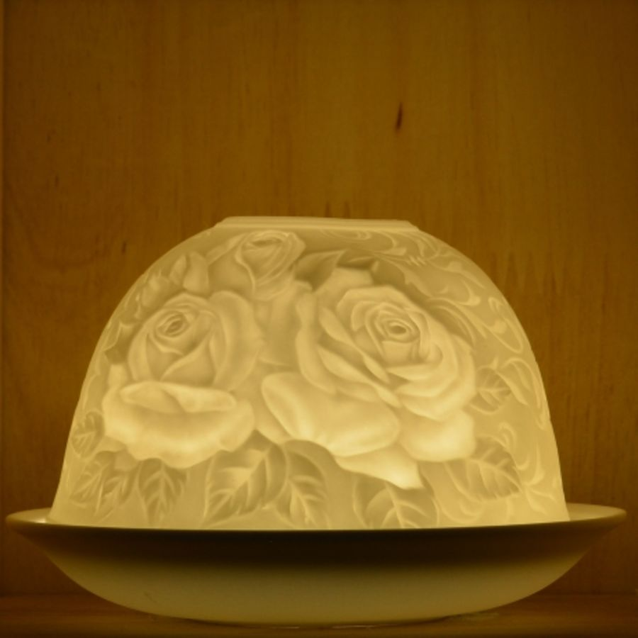 Nordic Lights Candle Shade - White Rose