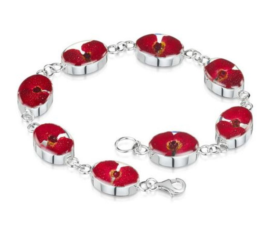 Silver Poppy Bracelet by Shrieking Violet
