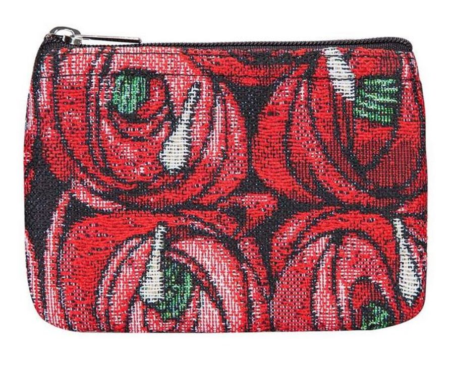 Mackintosh Rose & Teardrop Zip Coin Purse by Signare