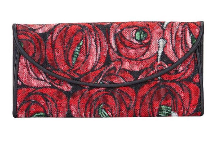 Mackintosh Rose & Teardrop Envelope Purse by Signare
