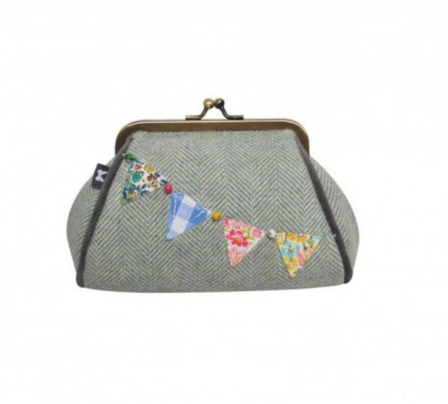 Herringbone Bunting Lara Purse by Earth Squared