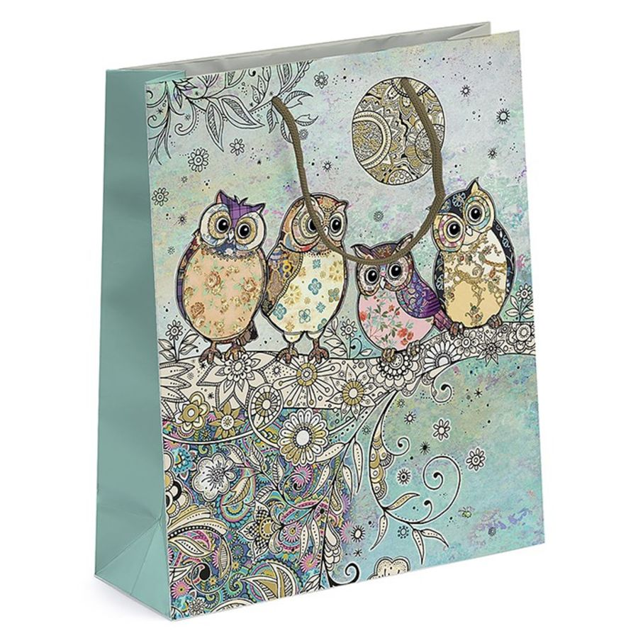 Owls On Tree - Medium Gift Bag
