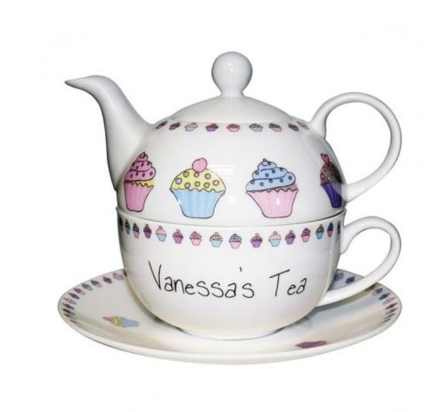 Personalised Tea For One - Cupcake Design