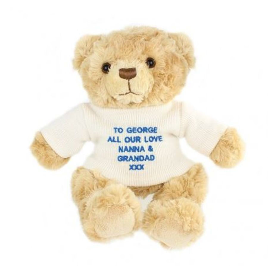Personalised Teddy Bear - Blue or Pink
