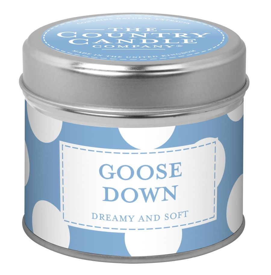 Goose Down Fragranced Candle In a Tin