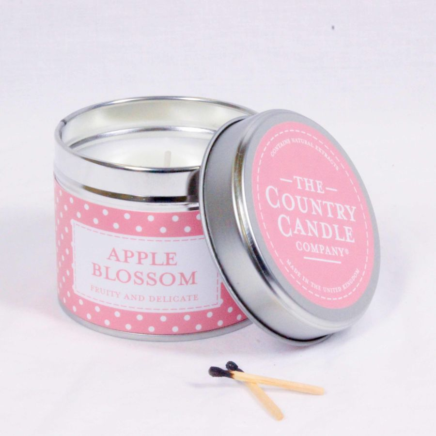 Apple Blossom Candle in a Tin