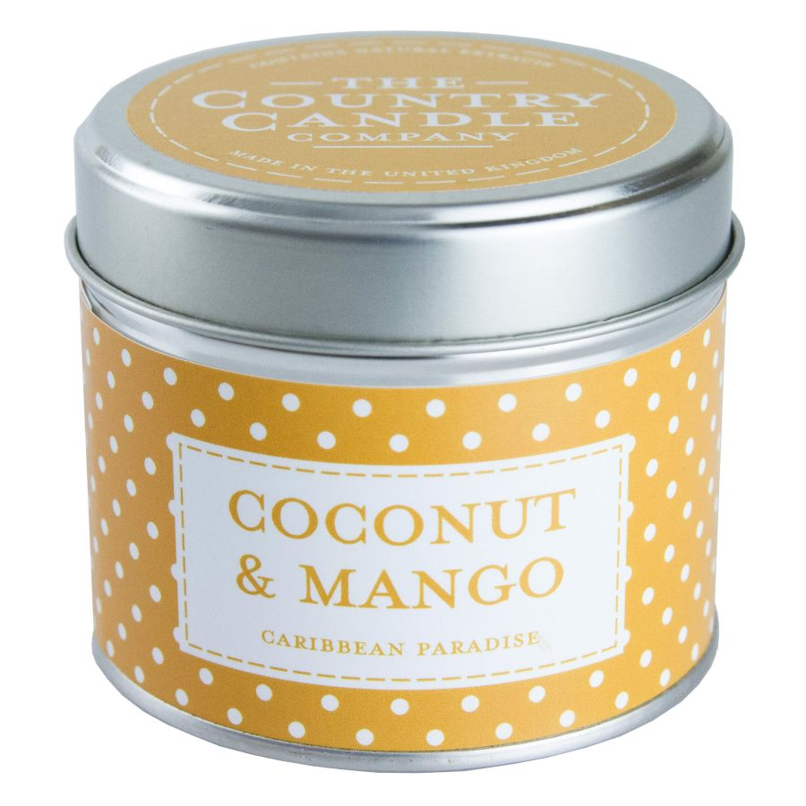 Coconut & Mango Candle in a Tin
