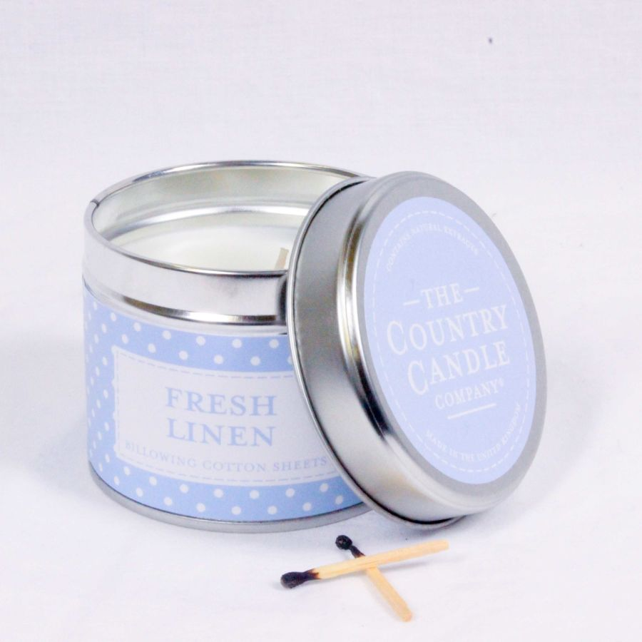 Fresh Linen Candle in a Tin