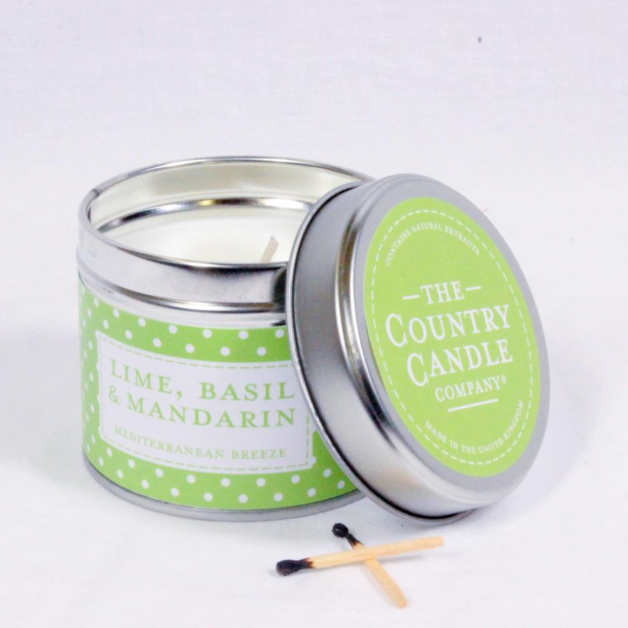Lime, Basil & Mandarin Candle in a Tin