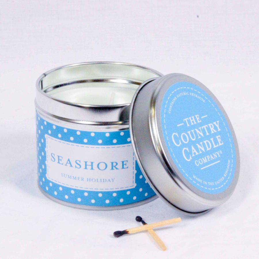 Seashore Candle in a Tin
