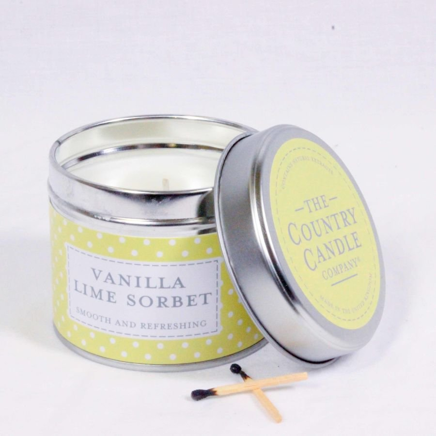 Vanilla Lime Sorbet Candle in a Tin