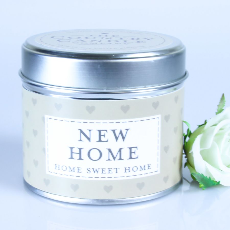 New Home Candle in a Tin
