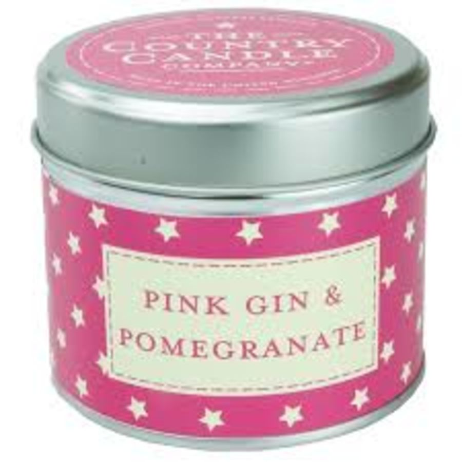 Pink Gin & Pomegranate Candle in a Tin