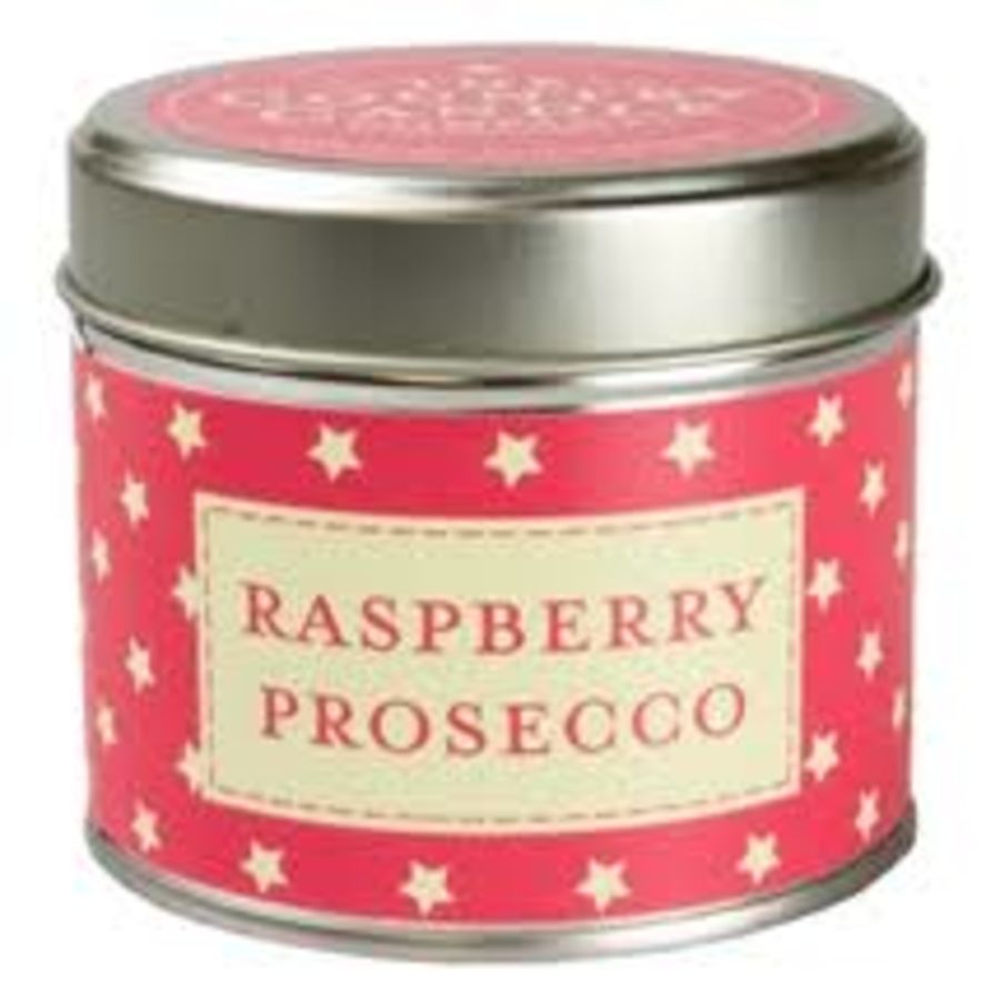 Raspberry Prosecco Candle in a Tin