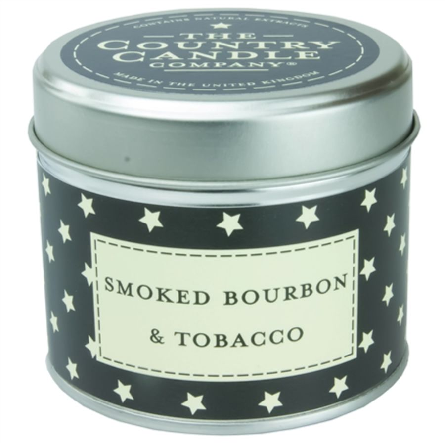 Smoked Bourbon & Tobacco Candle in a Tin