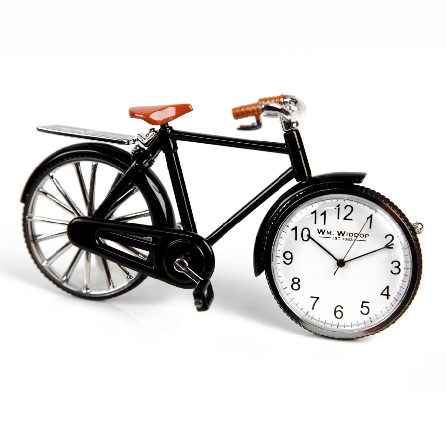 Pedal Bike Miniature Quartz Clock by Wm. Widdop