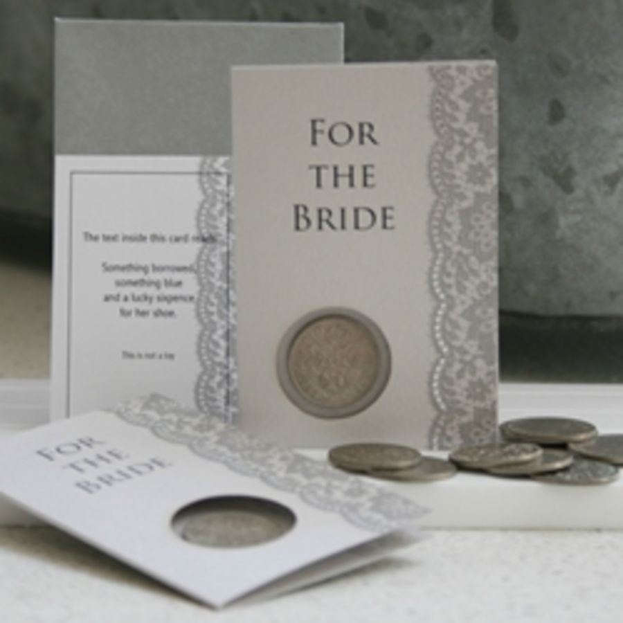 For The Bride - Lucky Sixpence by Compton & Clarke