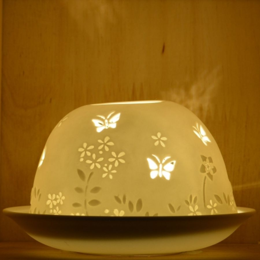 Nordic Lights Candle Shade - Stencil Butterfly