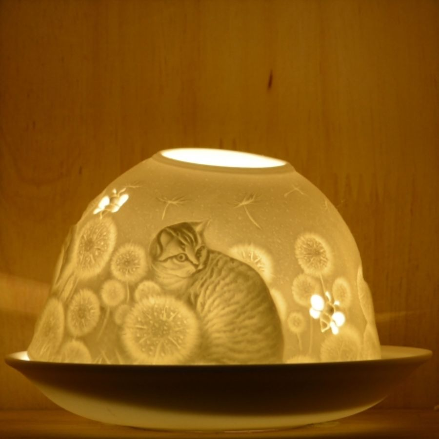 Nordic Lights Candle Shade - Stencil Kitten