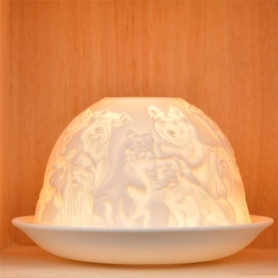 Nordic Lights Candle Shade - Dogs