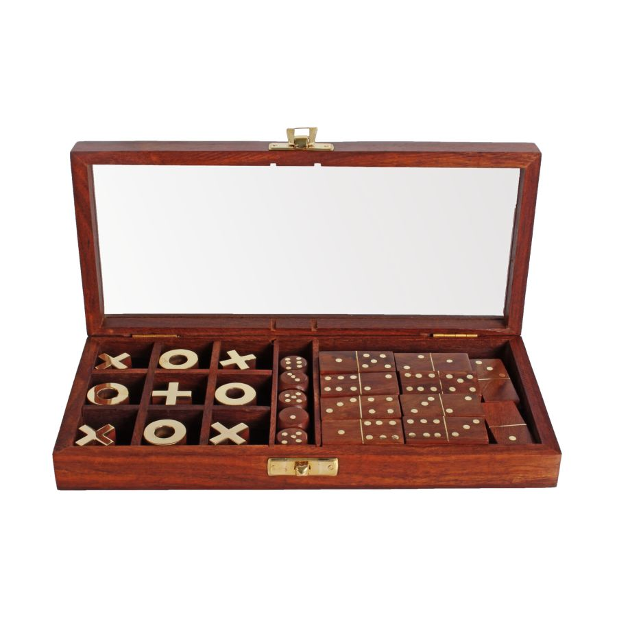 Emporium Collection - Dominoes, Dice, Tic Tac Toe,