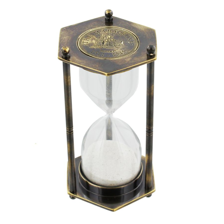 Emporium Collection Brass Hexangonal 1 Minute Timer