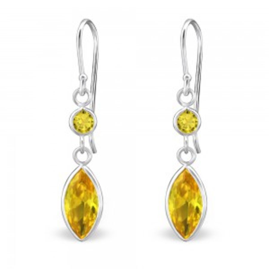 925 Sterling Silver Cubic Zirconia Earrings - Teardrop