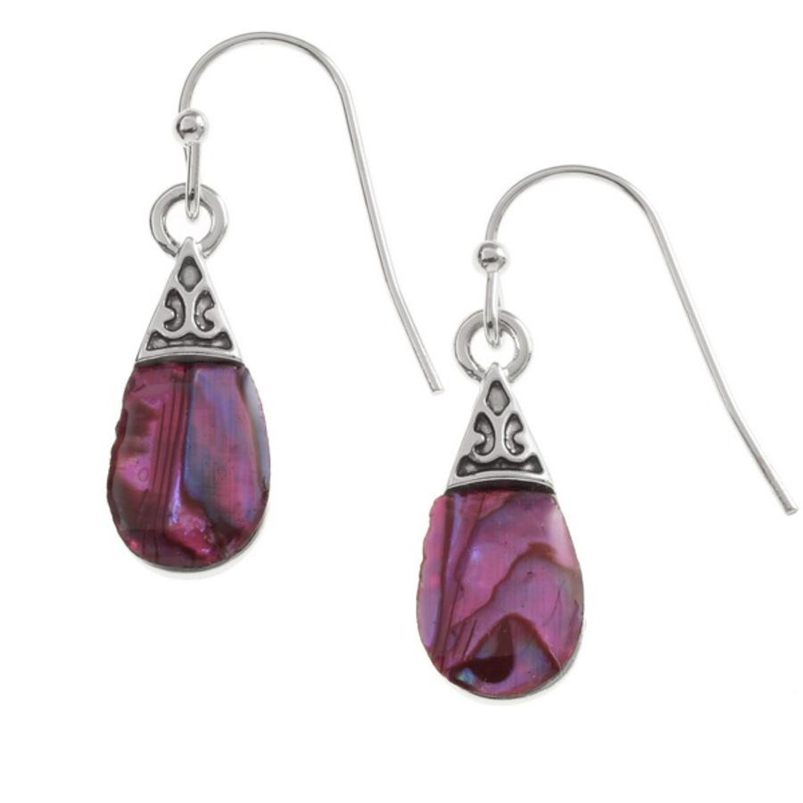 Pink Pear Shape Earrings by Tide Jewellery